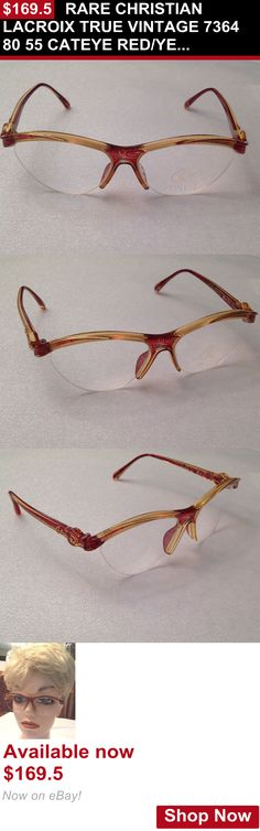 Vintage accessories: Rare Christian Lacroix True Vintage 7364 80 55 Cateye Red/Yellow/Green Eyeglass BUY IT NOW ONLY: $169.5