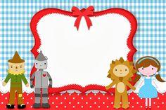 Mágico de Oz - Kit Completo com molduras para convites, rótulos para guloseimas, lembrancinhas e imagens! - Fazendo a Nossa Festa