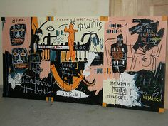 neo-expressionism tribute pop art,contemporary 80's painting sculpture-basquiat