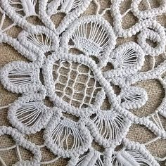 Vintage doily Romanian lace crochet cord thread by MyWealth