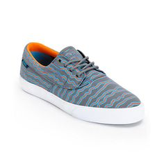 They're here! | Earl Sweatshirt x Lakai Camby Grey Print Canvas Skate Shoe