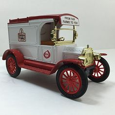 A great Fathers Day gift. Swiss Valley Farms Car Bank Die Cast Metal 1913 Model T Van ERTL Ford ERTL
