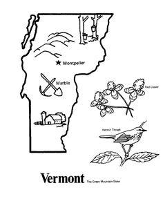 USA-Printables: State outline shape and demographic map