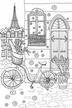 Freebie Snow Scene Coloring Page