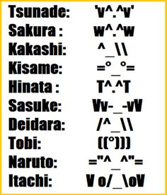its the naruto faces in text form