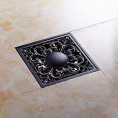 Senlesen Art Carved Oil Rubbed Bronze 4u0027u0027 Shower Floor Waste Drain Cover  Washer Machine