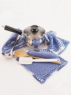 Dishcloth and Pot Holder (Pot Holder) ~ free pattern
