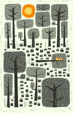 by illustrator Peter Donnelly. His portfolio features a range of styles, but I'd like to see more of this faux woodcut/scratchboard lo. Gravure Illustration, Tree Illustration, Illustrations, Graphic Illustration, Graphic Art, Scratchboard, Art Graphique, Grafik Design, Art Plastique