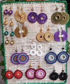 Crochet Jewelry Patterns, Crochet Earrings Pattern, Crochet Bikini Pattern, Crochet Symbols, Crochet Accessories, Crochet Motif, Crochet Designs, Crochet Necklace, Thread Crochet