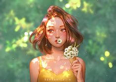 Karmen Loh is a freelance artist from Malaysia. She is into creating character digital paintings, video and image processes but mostly into character art. She loves dreamy and whimsical things. Digital Art Girl, Digital Portrait, Portrait Art, Girl Portraits, Digital Art Anime, 3d Artwork, Fantasy Artwork, Fantasy Girl, Photographie Portrait Inspiration