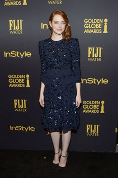 Actress Emma Stone arrives at the Hollywood Foreign Press Association and InStyle celebrate the 2017 Golden Globe Award Season at Catch LA on November 10, 2016 in West Hollywood, California.