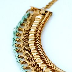 Bohemian Gorgeous Gold Statement Necklace by CollectionsbyHayley