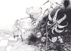 See Ralph Steadman's Twisted Illustrations of Alice's Adventures in Wonderland on the Story's 150th Anniversary via Open Culture...