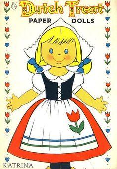 1961 Dutch Treat Paper Dolls Saalfield