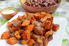 Ik ben dol op zoete aardappel! Gebakken vind ik het lekkerder dan 'normale' aardappels. Ook is het een echte superfood. Het telt zelfs als een groente, hoewel ik het zelf in plaats van aardappel/rijst/pasta gebruik. Het verhoogt de bloedsuikerspiegel minder dan de gewone aardappel en 1 oranje zoete aardappel bevat al de aanbevolen hoeveelheid vitamine …