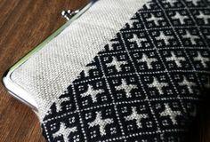 Kogin embroidery clutch