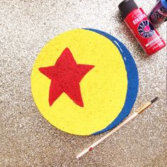 Pixar's Luxo Ball Pin Board for all of your favorite Toy Story Pins! Toy Story Room, Toy Story Theme, Toy Story Birthday, Toy Story Party, 2nd Birthday, Toy Story Crafts, Movie Crafts, Yellow Crafts, Blue Crafts