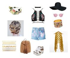 """""""Spring/Music Festival Outfit 3"""" by breannagutierres on Polyvore featuring River Island, Forte Couture, Oliver Peoples, Daytrip, Anissa Kermiche, Bloomingdale's and T-shirt & Jeans"""