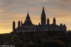 Sunrise at Ottawa's Parliament Hill