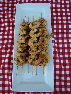 Margarita Grilled Shrimp Skewers -- From Gate to Plate #KickOffToSummerWeek2014