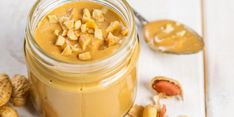 Domácí arašídové máslo Smoothies, Peanut Butter, Food, Smoothie, Essen, Meals, Yemek, Smoothie Packs, Eten