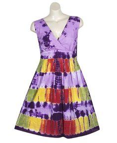 Plus Size Purple Tie Dye Dress –Size: 4x Color: Purple