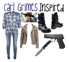 """Carl Grimes Inspired"" by princess-jourdyn ❤ liked on Polyvore"