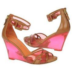 VIA SPIGA Biana Shoes (Hot Pink/Camel) $198