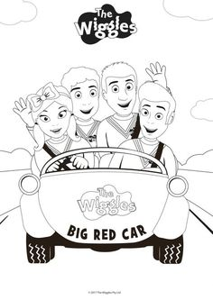 the wiggles playing music coloring pages Wiggles Birthday, Wiggles Party, The Wiggles, Wiggles Cake, Cartoon Coloring Pages, Coloring For Kids, Coloring Pages For Kids, Coloring Sheets, Lego Coloring