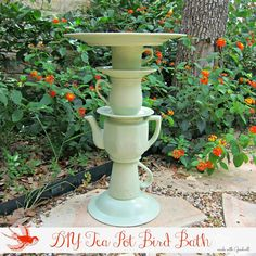 DIY Tea Pot Bird Feeder