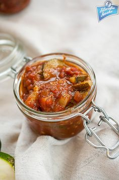 Cukinia w sosie pomidorowym na zimę I Want To Eat, Preserves, Pickles, Curry, Gluten Free, Canning, Ethnic Recipes, Pantry, Jars