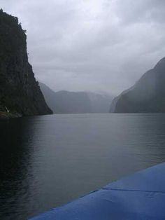Sognefjord - King of the Fjords during rains. Norway