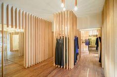 zeller & moye fits out sandra weil store in mexico with timber slats