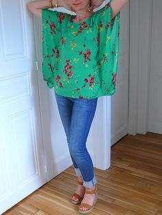 kimono top with tutorial/pattern in french