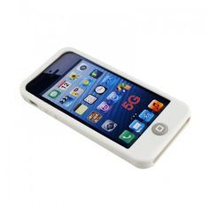 Soft Silicone Case Shell Cover with Home Button for iPhone 5 -White