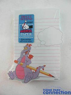 Disney Mickey's Paper Company New FIGMENT Recycled Paper Die-Cut Notepad