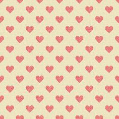 love to love hearts ♥ pattern // print