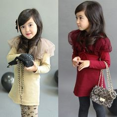 Discount China china wholesale Kids Dress Girls Gauze Collar Shawl Long Sleeve Toddlers 2-7Y Party Clothes Top [60002] - US$8.49 : DealsChic