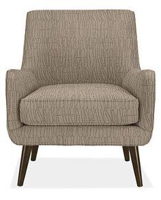 Quinn Chair & Ottoman in Meta Fabric - Chairs - Living - Room & Board.