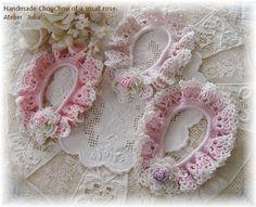 シュシュ-巻き薔薇-ピンク