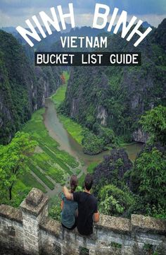 Guide: Ninh Binh, Vietnam (Halong Bay on a river! Hue Vietnam, Hanoi Vietnam, North Vietnam, Vietnam Travel Guide, Asia Travel, Laos, Cool Places To Visit, Places To Go, Vietnam Voyage