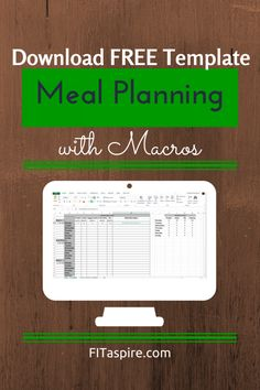 Meal Planning with Macros - Free Template - FITaspire