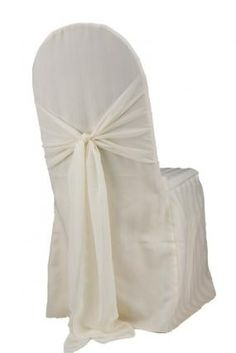 Ivory Satin Stripe Chair Cover supposedly $2 per!