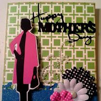 Suburbia Cricut Cartridge. 2014 Mother's Day Card.