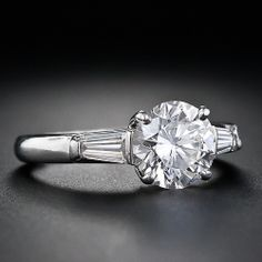 1.56 Carat Tiffany & Co. Diamond Engagement Ring - 10-1-4608 - Lang Antiques. Maybe this setting?