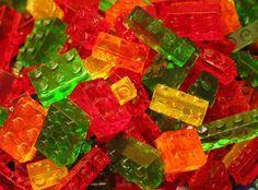 Lego gummy sweets