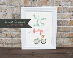 This is gonna make you stronger, free printable in 3 sizes- Fun & Free — NJS Design Company