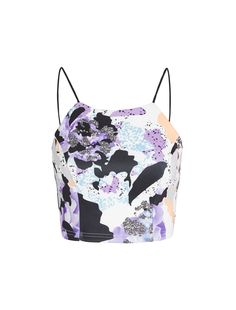 STAY ON TREND THIS SEASON | ISLA Broken Promises Crop Top | $59.95 | #croptops #floral #graphicprints | http://www.talulah.com.au/shop/isla-by-talulah/broken-promises-crop-top-15205