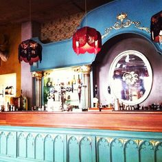 The Cosy Club Bath - the perfect place to wait for trains.