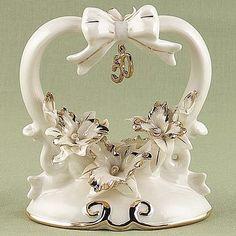 50th Anniversary Porcelain Cake Topper